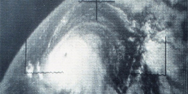 Hurricane Betsy can be seen in the Atlantic on Sept. 4, 1965.