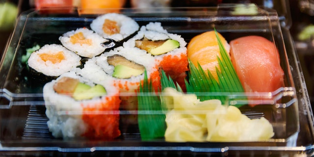 The removed sushi is presumably infested with listeria, a FDA said.