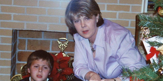 Christian and his mother Rae Andreacchio during happier times.