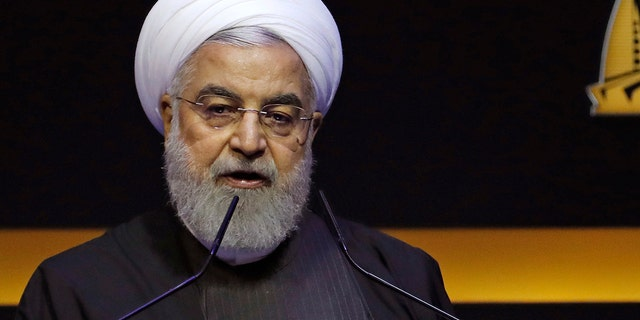 Rouhani also spent his time in Malaysia speaking at an Islamic conference where he urged Muslim nations on Thursday to deepen financial and trade cooperation to fight what he described as U.S. economic hegemony.(AP Photo/Lai Seng Sin)