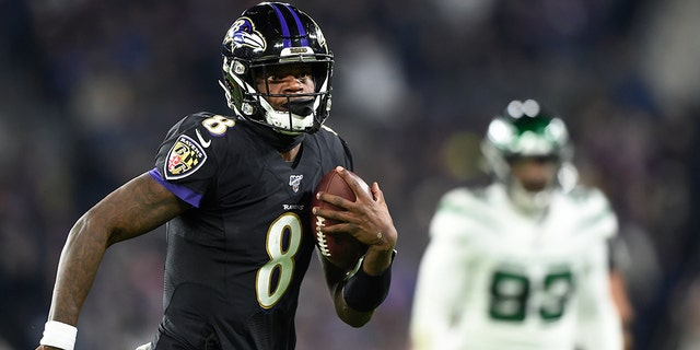 Ravens top Jets 42-21, clinch AFC North title on huge night for QB Lamar Jackson