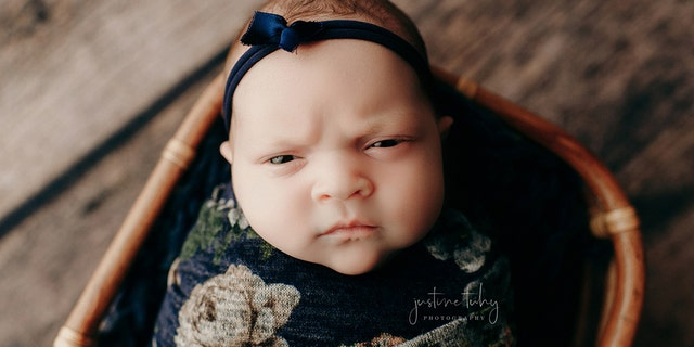 But Luna's angry face didn't come as much of a shock to her parents, who said she was born with the surly look.