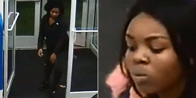 The suspect on the left was caught on surveillance tape macing a loss prevention officer while both women attempted to leave the Blaine store with baskets full of unpaid merchandise.
