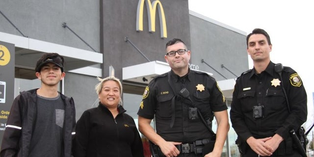 """While in the drive-thru, a woman mouthed to an employee, """"HELP ME."""" Just then, deputies arrived and spoke with employees inside the restaurant, they rushed them out the door telling them that the woman needing help was in the drive-thru line."""