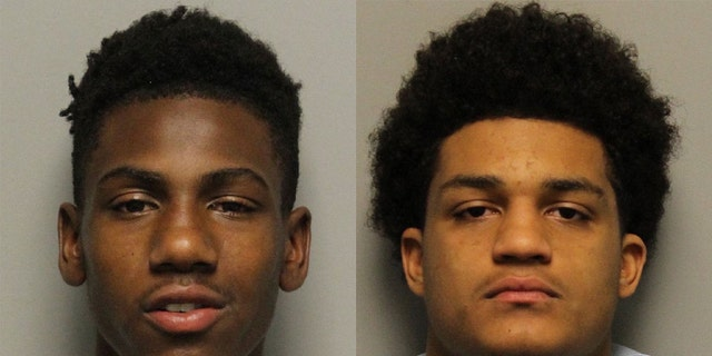 Calvin Howse, left, and Brandon Caruthers both have armed robbery and gun possession charges on their records, according to police.