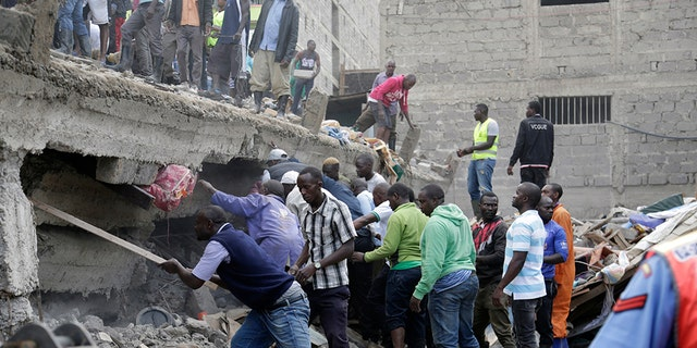 Westlake Legal Group nairobi-bldg-collapse-midrange-cropped-613am Nairobi, Kenya, building collapse of 6-story building leaves at least 2 dead, others trapped, officials say TOM ODULA fox-news/world/world-regions/africa fox-news/world/disasters fox news fnc/world fnc article 9e0a7ffc-0868-5c95-a327-60b9cb1ae45e