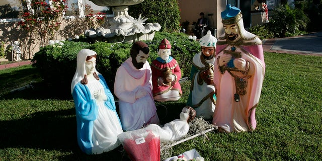 The town of Georgetown, Del. banned a Nativity scene (like the one pictured) from the public circle over safety concerns.