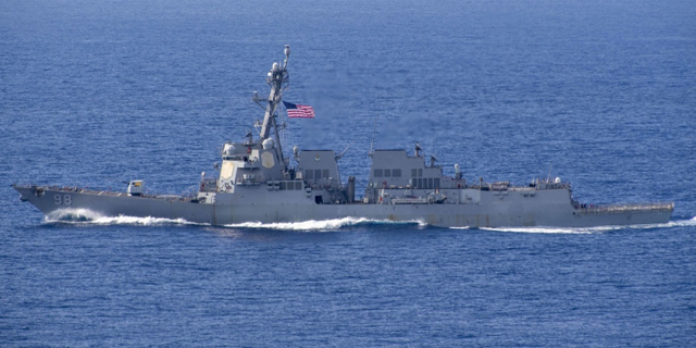 USS Forrest Sherman (DDG 98), the Navy warship that seized the missile parts said to be from Iran en route to Yemen.