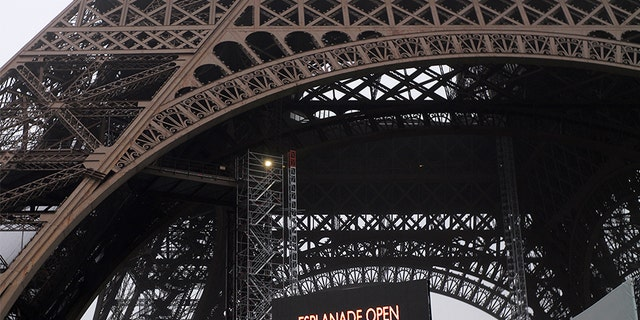 The strike has forced the Eiffel Tower to close on Thursday. (AP)
