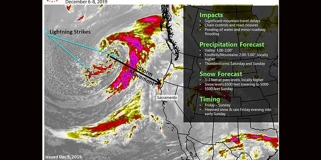 The next winter storm is forecast to impact the West Coast by Friday into the weekend.