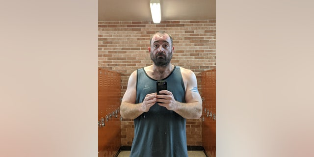 Adam Harris after his weight loss.