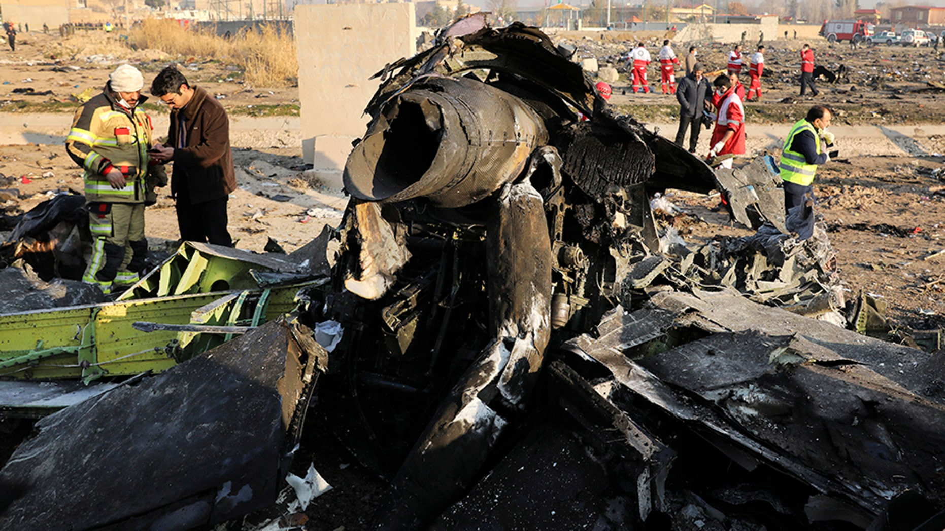The crash happened shortly after the plane departed Tehran's airport Wednesday morning. (AP)