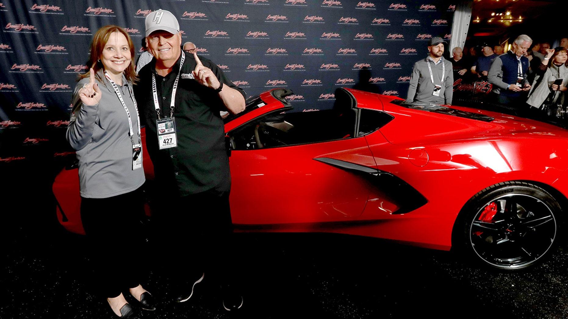 GM CEO Mary Barra and Rick Hendrick