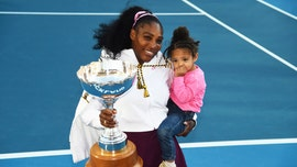 Serena Williams hits the tennis court with daughter Olympia, 2, in matching purple outfits