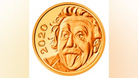 Albert Einstein coin is the smallest of its kind