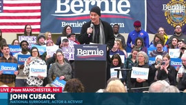 John Cusack at Bernie Sanders rally: World has '10-12-year window' to stop climate change, 'predatory capitalism'