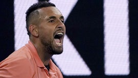 Kyrgios barks, mocks his way to Australian Open's 3rd round