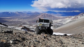 Mercedes-Benz truck climbs volcano to break high altitude driving record