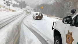 Colorado highway blocked by 'large boulder the size of a small boulder,' stumping internet