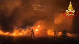 Italian driver evades flaming cars in botched highway robbery attempt