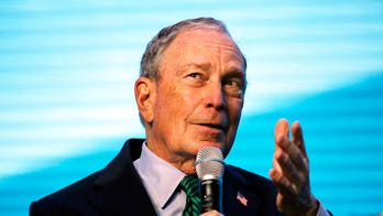 Bloomberg's ruff time: Dem greets dog by shaking its mouth