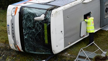 Germany school bus crashed into ditch, flipped several times killing 2 children, injuring 5