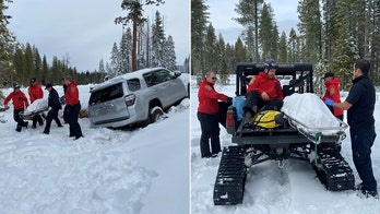 California woman found alive in snow-covered vehicle after 6 days missing in mountains