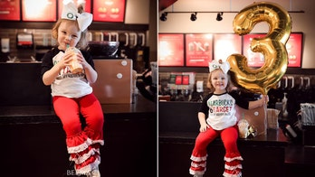 Girl, 3, celebrates birthday with Target-, Starbucks-themed bash