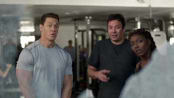 Jimmy Fallon, John Cena and other stars workout in hilarious beer commercial for Sunday鈥檚 game