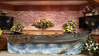 Avid fisherman's family honors his memory by bringing boat into funeral home