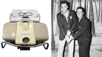 Elvis Presley's Harley-Davidson golf cart duffs at auction