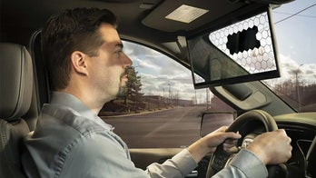 Transparent car visor tracks your eyes to block out the Sun