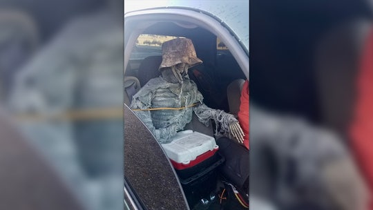Arizona driver caught in HOV lane with skeleton riding shotgun