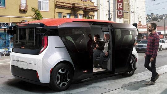 GM's autonomous car company, Cruise, unveils Origin self-driving shuttle