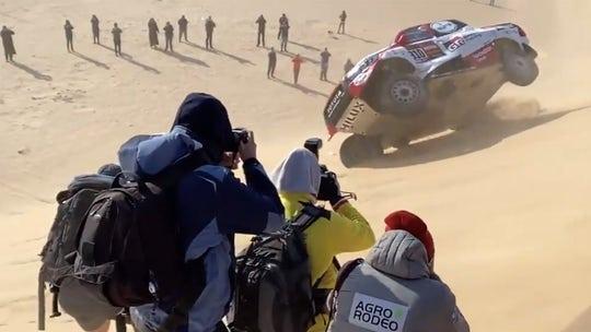 F1 champion Fernando Alonso rolls truck, keeps going during Dakar Rally
