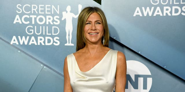 Jennifer Aniston attends the 26th Annual Screen ActorsGuild Awards at The Shrine Auditorium on January 19, 2020.