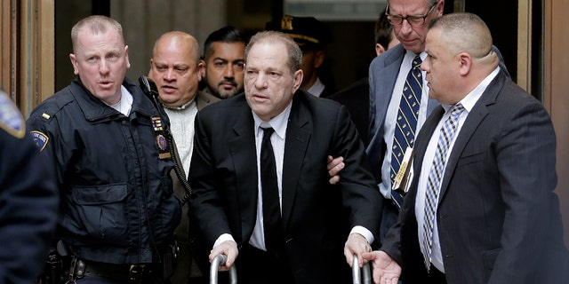 Harvey Weinstein leaves State Supreme Court in New York, Monday, Jan. 6, 2020. The disgraced movie mogul faces allegations of rape and sexual assault.
