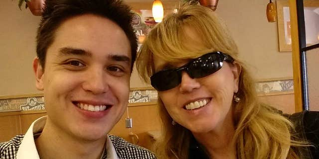 Christine Leinonen (right) pictured next to her son, Christopher, who was killed in the Pulse nightclub shooting (Christine Leinonen).
