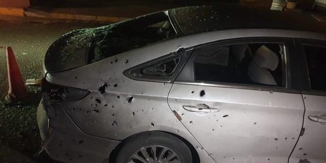 The aftermath of Jan. 4 rocket attacks in Iraq. (CJTF-OIR)
