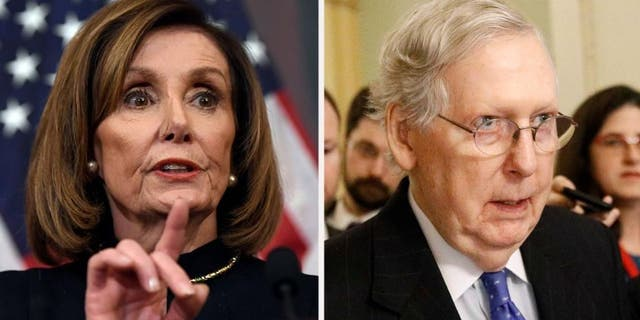 Westlake Legal Group 4087de28-PelosiMcConnell010620 Trump warns Iran of 'major retaliation' if US is attacked, threatens Iraq with sanctions fox-news/columns/fox-news-first fox news fnc/us fnc c8bd7d4b-198c-5e1d-92ff-e12862ca5974 article