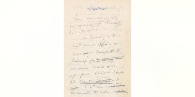 Westlake Legal Group 42f0633e-jfk-letter-4 JFK handwritten speech announcing his run for president set to go up for auction fox-news/politics fox-news/columns/digging-history fox news fnc/science fnc Chris Ciaccia article 13909b27-a81b-5f85-b9b7-2a49bf929a7a