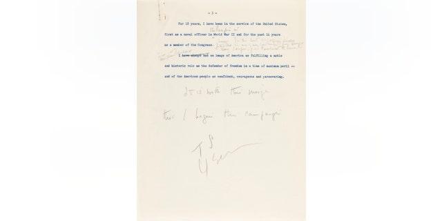 Westlake Legal Group 4a168238-jfk-letter-3 JFK handwritten speech announcing his run for president set to go up for auction fox-news/politics fox-news/columns/digging-history fox news fnc/science fnc Chris Ciaccia article 13909b27-a81b-5f85-b9b7-2a49bf929a7a