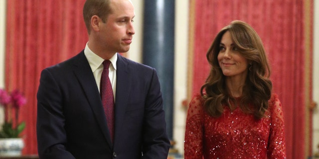 Prince William, Duke of Cambridge and Catherine, Duchess of Cambridge attend a reception to mark the UK-Africa Investment Summit at Buckingham Palace on January 20.