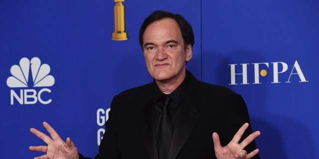 "Quentin Tarantino, winner of the award for best director, motion picture, for ""Once Upon a Time...in Hollywood,"" poses in the press room at the 77th annual Golden Globe Awards at the Beverly Hilton Hotel on Sunday, Jan. 5, 2020, in Beverly Hills, Calif."
