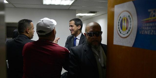 Westlake Legal Group AP20007449698826 Venezuela's Guaido forces his way into congress amid standoff fox-news/topic/venezuelan-political-crisis fnc/world fnc Associated Press article 955a8a84-0164-5e5d-af5d-ef9ef2050e77
