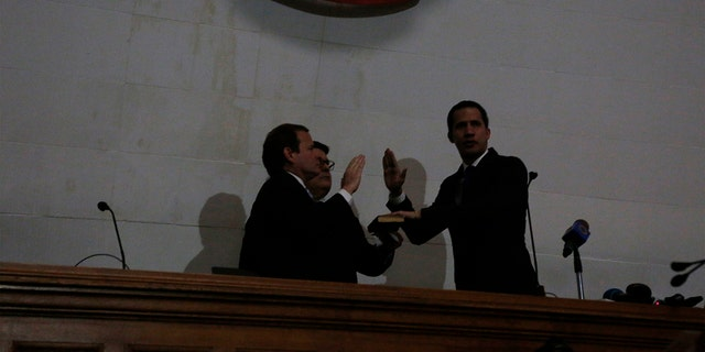 Westlake Legal Group AP20007589789685 Venezuela's Guaido forces his way into congress amid standoff fox-news/topic/venezuelan-political-crisis fnc/world fnc Associated Press article 955a8a84-0164-5e5d-af5d-ef9ef2050e77