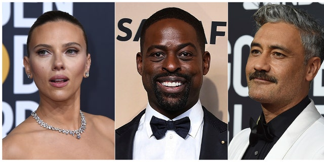 From left -- Scarlett Johansson, Sterling K. Brown and Taika Waititi, who will join Roman Griffin Davis, Jason Bateman, Lili Reinhart and Kaitlyn Dever as presenters at the 26th annual Screen Actors Guild Awards on Sunday, Jan. 19, 2020.