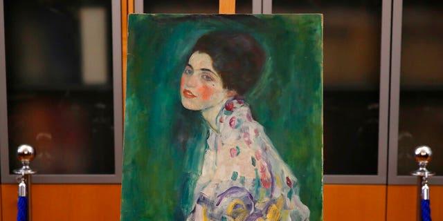 "Klimt's ""Portrait of a Lady"" was reported stolen from the Ricci Oddi in Feb. 1997. (AP Photo/Antonio Calanni)"