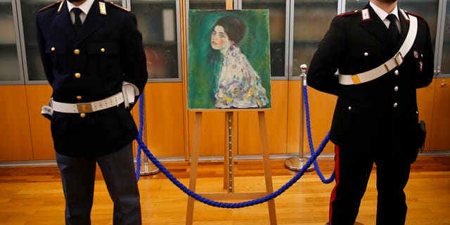 The portrait is currently being held at a bank in Italy amid an investigation, before being returned to the museum.