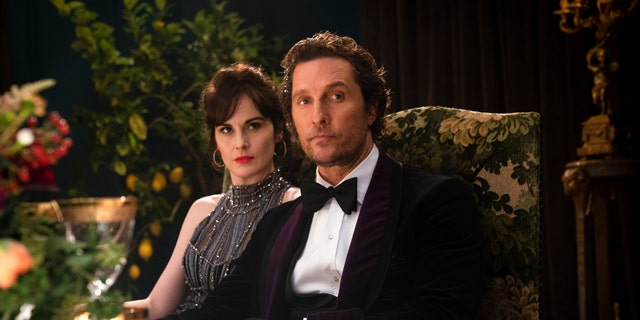 Michelle Dockery, left, and Matthew McConaughey in a scene from